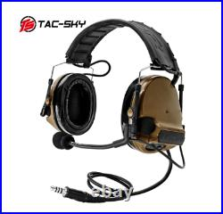 TAC-SKY COMTAC III silicone earmuff version electronic tactical hearing defense
