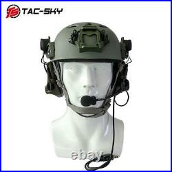 TAC-SKY Tactical Helmet Bracket COMTAC III Noise Cancelling Shooting Headphones