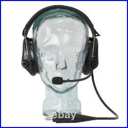 Tactical msa sordin supreme pro x communication headset comm headset black