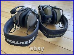Two walker razor electronic earmuffs With Walkie Talkies. Mint