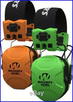 WALKER'S XCEL Advanced Digital Muffs, GWP-SF-XSEM, Blaze Orange or Hi-Viz Green