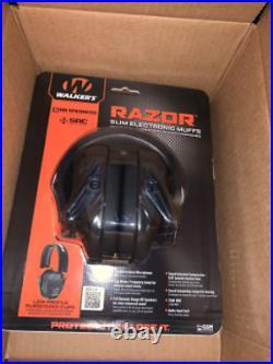 Walker's Game Ear Razor Slim Electronic Muff Black