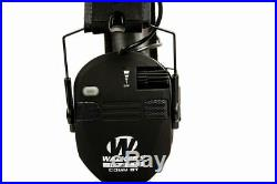 Walker's Game Ear Razor Slim Electronic Quad Muff Bbluetooth Black