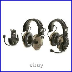 Walker's Razor Electronic Ear Muffs with Walkie Talkie Sound Activated 2 Pack