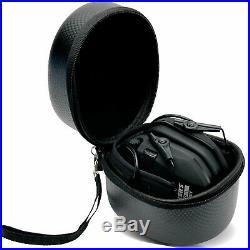 Walker's Razor Electronic Shooting Ear Muffs, Punisher & Storage Case, Black