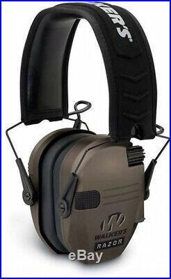 Walker's Razor Series Slim Shooter Folding Earmuffs, Dark Earth (2 Pack)