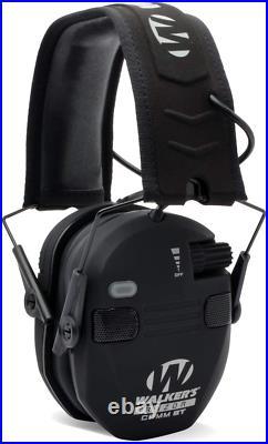 Walker's Razor Slim Electronic Bluetooth Shooting Ear Protection Muff, Black