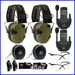 Walker's Razor Slim Electronic Hearing Protection BUNDLE, Green Patriot, 2 Pack