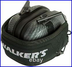 Walker's Razor Slim Shooting Ear Protection Muffs with NRR 23dB, Carbon