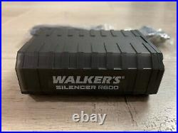 Walker's Silencer R600 Electronic Earbud Earmuff Hearing Safety Shooting NRR 26