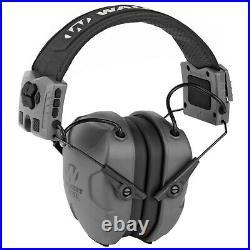 Walker's XCEL 500BT Digital Electronic Muff withVoice Clarity & Bluetooth, Gray