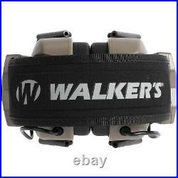 Walker's Xcel 100 Digital Electronic Ear Protection Headphones, Tan (2 Pack)