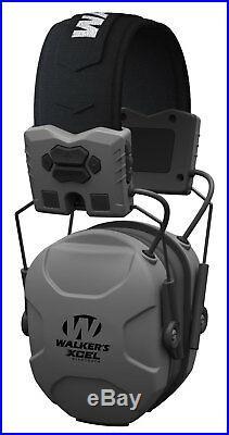 Walkers GWPXSEMBT XCEL Digital Muff Electronic Earmuff Gray Bluetooth
