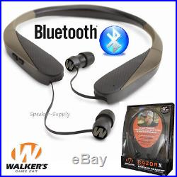 Walkers Game Ear Earbuds Bluetooth Razor XV Neck Hearing Protection Enhancement