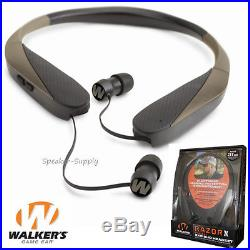 Walkers Game Ear Earbuds Headset Razor X Neck Hearing Protection Enhancement