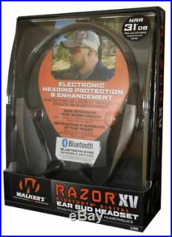 Walkers Game Ear GWPNHEBT Razr XV WithBluetooth Electronic 31 Db Flat GWP-NHE-BT