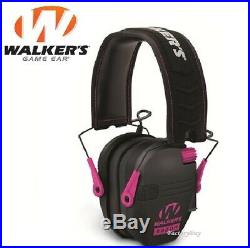 Walkers Game Ear Razor Slim Shooting Folding Muff Muffs Electronic Pink RSEM-PNK