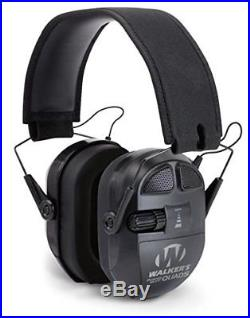 Walkers Game Ear Ultimate Power Muff Quads with AFT/Electric, Black