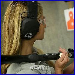 Walkers Razor Ear Protection Dark Earth Slim Shooter Folding Earmuffs, 4 Pack