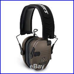 Walkers Razor Hearing Protection Dark Earth Slim Shooter Folding Earmuffs, Pair