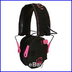 Walkers Razor Hearing Protection Pink Slim Shooter Folding Earmuffs, 2 Pack