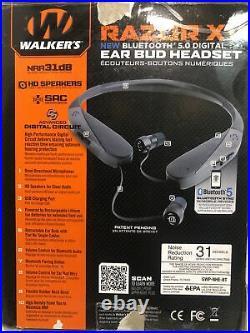 Walkers Razor XV Neck Worn Digital Ear Bud Muffs With Bluetooth Hear Enhance