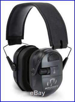 Walkers Ultimate Power Electronic Earmuff 27db Shoot Hunt Hearing Protect BLACK