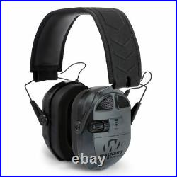 Walkers Ultimate Power Shooters Ear Muff Quad Series Black